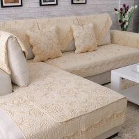 沙发垫纯棉布艺坐垫四季通用全棉防滑夏季欧式简约实木沙发套巾罩