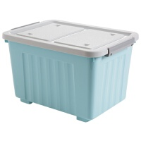 居家家 有盖收纳箱塑料大号储物箱 家用玩具箱子衣物收纳盒整理箱