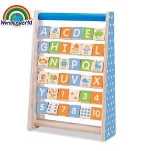 [当当自营]泰国Wonderworld 字母表 字母珠架 益智早教 3岁 木质玩具