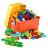 男童大颗粒积木拼装玩具益智3岁以上宝宝儿童6男孩智力4大号桶装