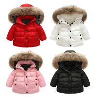 女婴儿棉衣服洋气宝宝0新生儿3个月1秋冬季冬装6秋装加绒外套装