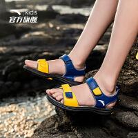 安踏童鞋 男童鞋凉鞋2019夏季新款中大童鞋子海边防滑儿童沙滩鞋