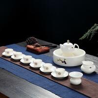 景德镇茶具 功夫茶具套装 家用简约羊脂玉泡茶器茶杯陶瓷茶壶杯子
