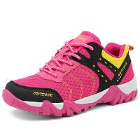杜戛地(DZRZVD)男士登山鞋 2016新款户外鞋透气男徒步网鞋D82017 玫红女款 39