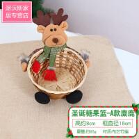 圣诞装饰店铺店面室内橱窗摆件节日氛围室外场景布置仿树皮糖果篮