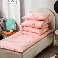 婴儿床上用品套件 纯棉幼儿园宝宝床单被套枕套枕芯四件套三件套