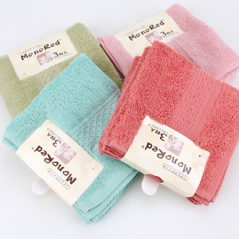 素色棉方巾儿童巾柔软吸水棉洗脸小毛巾 宝宝婴儿家用  34x34cm