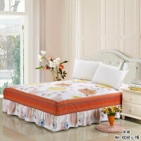 绚典家纺棉质床裙 全棉床罩韩版单件床套 席梦思床垫保护套