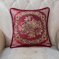 欧式红木沙发抱枕套子客厅卧室长方形家用靠垫方形枕头皮靠枕T D-1 国色天香