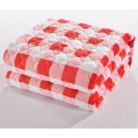 法兰绒床垫冬季加厚保暖床褥珊瑚绒垫子双人1.8m床水洗床垫法莱绒