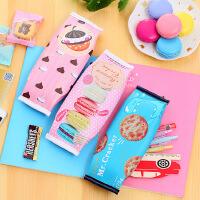 日韩文具仿真饼干笔袋创意高中学生铅笔盒文具包 学习用品