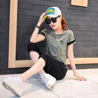 运动服套装女韩版休闲女装时尚潮短袖七分裤女装两件套