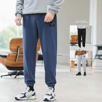 裤子男休闲裤秋冬季潮流直筒九分束脚裤男士运动长裤帅气卫裤