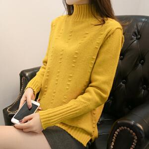 半高领纯色毛衣女韩版宽松针织衫秋冬套头时尚打底衫春季宽松女装