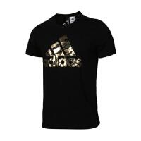 Adidas阿迪达斯 男装 2018新款运动休闲圆领透气短袖T恤 DI0304