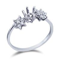 先恩尼 18k金 钻石戒托 HFGCH132 结婚钻戒定制 钻石女戒空托