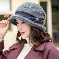帽子女秋冬季韩版潮加厚保暖帽时尚礼帽贝雷帽冬天女士盆帽渔夫帽