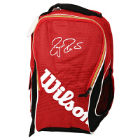 Wilson/威尔胜 背包 WRZ832496 FEDERER PREM BACKPACK RDWH 红/白 网球双肩