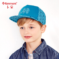 kenmont 儿童帽子男韩版潮嘻哈帽夏天时尚男童平沿帽春秋鸭舌帽4711