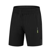 运动短裤男跑步健身速干男士跑步短裤运动裤夏季薄款马拉松训练裤 1701黑色 M