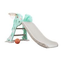 小型加厚滑梯室内儿童塑料滑梯家用宝宝加长上下可折叠滑滑梯玩具 拉杜熊-折叠滑梯