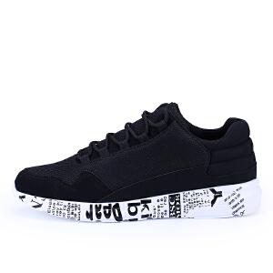 Mr.zuo男鞋夏季透气休闲鞋男士网鞋跑步运动鞋黑色运动鞋韩版潮流鞋子男潮鞋