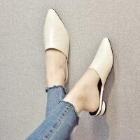 户外时尚女士拖鞋休闲舒适中跟鞋气质百搭复古女鞋