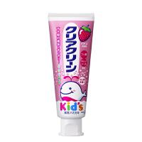 花王木糖醇婴幼儿童可吞咽牙膏 防蛀健齿 水果味 草莓味  每支70g
