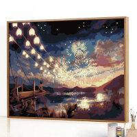 迷朗diy数字油画风景客厅动漫手工填充数码填色手绘油彩装饰挂画
