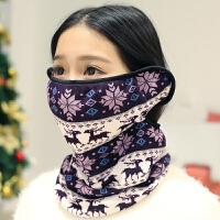 韩版秋冬天保暖口罩耳罩三合一体骑行护颈围脖防尘防风防寒面罩女