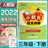 新版 2020春黄冈小状元语文详解三年级/3年级人教版)字词句段篇 语文下册R