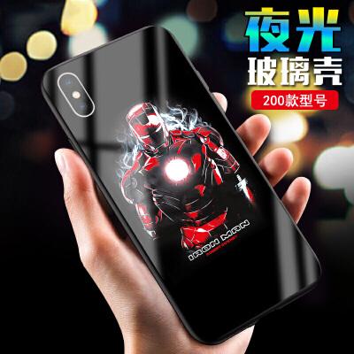 复仇者联盟4手机壳苹果iphone钢铁侠华为 oppo vivo 小米三星夜光 下单请备注型号和图片,详细请咨询客服。