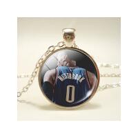 20180418084955823 运动篮球 球衣号码系列 欧美时光宝石Q版吊坠项链饰品