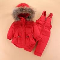 宝宝儿童羽绒服套装冬装两件套