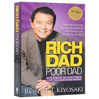 英文原版 富爸爸穷爸爸 Rich Dad Poor Dad 富人教了他们的孩子哪些是穷人和中层教不了的 经济投资 企业管