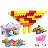 积木五彩小高乐拼插玩具 宝高塑料积木 益智扣插拼搭城堡 过家家幼儿园经典积木