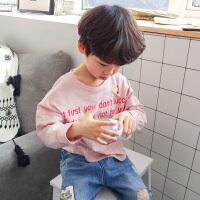 男童长袖t恤纯棉2018新款春装儿童上衣韩版春秋男孩薄款中童宽松