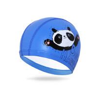 儿童泳帽 防水护耳PU帽 儿童涂层卡通游泳帽