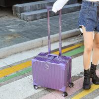 七夕礼物行李箱万向轮女铝框迷你拉杆箱18寸密码旅行箱16小登机箱20男复古