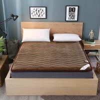 加厚法莱绒床垫床褥榻榻米垫被学生宿舍单人双人1.5m 1.8米床褥子T