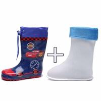 儿童雨鞋男童宝宝胶鞋小童雨靴小孩幼儿水鞋防滑卡通男孩水靴中筒 加内胆