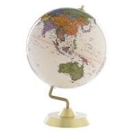 博目地球仪 32cm 高清 中英文地名 复古金色圆座 商务系列