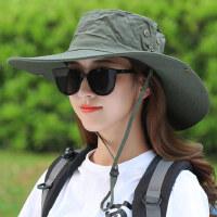 渔夫帽子女韩版潮流出游遮阳帽防晒户外遮脸大沿日系太阳帽