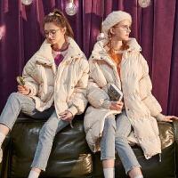 【新品369.9元】唐狮冬季新款女羽绒服中长款羽绒服女立领短款羽绒服女厚外套