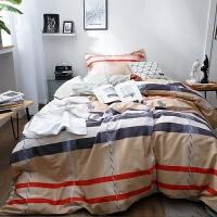 小清新全棉宿舍三件套 学生单人床单纯棉被套1.2m米床上用品3件套 1.2m(4英尺)床
