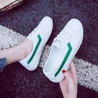 浅口小白鞋女夏季女鞋子2018新款透气百搭韩版休闲板鞋平底白鞋子