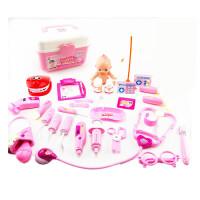 儿童过家家医生玩具套装声光听诊器打针医药箱男孩女孩3-6周岁