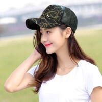 帽子女户外运动时尚韩版百搭潮棒球帽防晒遮阳太阳帽女士亮片鸭舌帽