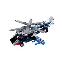 【1件6折 2件5折】跃高 标致 小颗粒拼装积木 科技机械系列 Y58400救援直升飞机