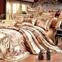 伊迪梦家纺 欧美式豪华样板房床上用品多件套 贡缎提花绗缝夹棉绣花 大规格床婚庆十件套TY101